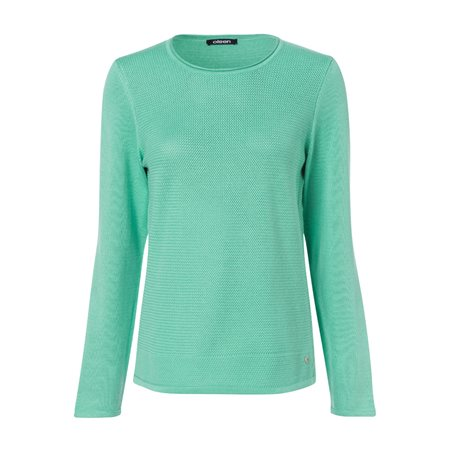 Olsen Knitted Waffle Jumper Mint  - Click to view a larger image