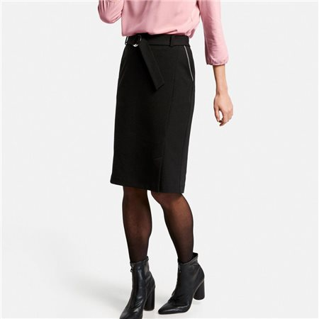 Gerry Weber Belted Skirt Black  - Click to view a larger image