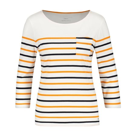 Gerry Weber 3/4 Sleeve Striped Top Orange  - Click to view a larger image