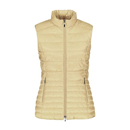 Gerry Weber Quilted Gilet Tan  - Click to view a larger image