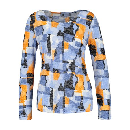 Gerry Weber Graphic Print Top Blue  - Click to view a larger image