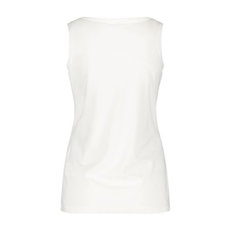 Gerry Weber Round Neck Vest Off White  - Click to view a larger image
