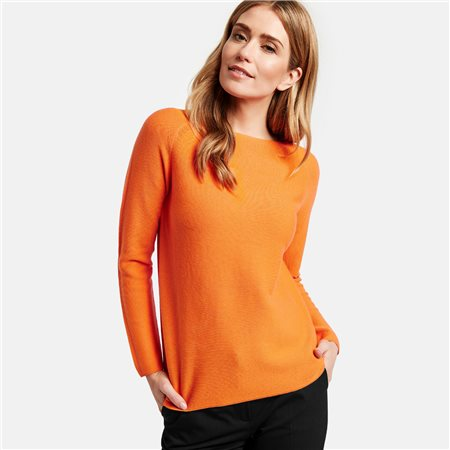 Gerry Weber Pure Cotton Jumper Orange  - Click to view a larger image