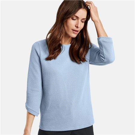 Gerry Weber Pure Cotton Jumper Blue  - Click to view a larger image