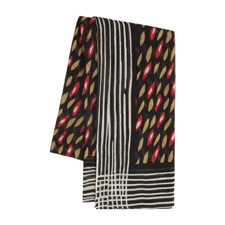 Sandwich Leaf Print Scarf Red  - Click to view a larger image