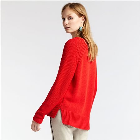 Sandwich Knitted Jumper Red  - Click to view a larger image
