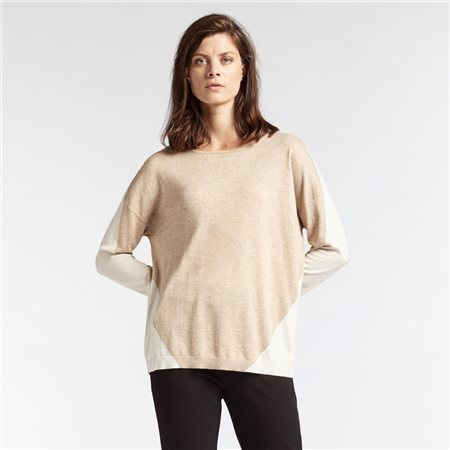 Sandwich Geometric Design Jumper Beige  - Click to view a larger image