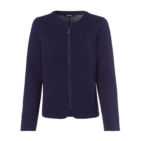 Olsen Waffle Texture Jacket Navy  - Click to view a larger image