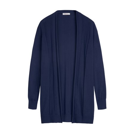 Sandwich Mid Length Cardigan Navy  - Click to view a larger image