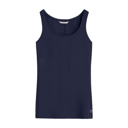 Sandwich Vest Top Navy  - Click to view a larger image