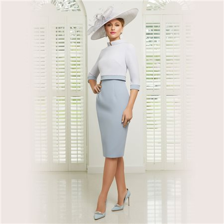 Ronald Joyce 991504 Dress And Jacket Light Blue  - Click to view a larger image