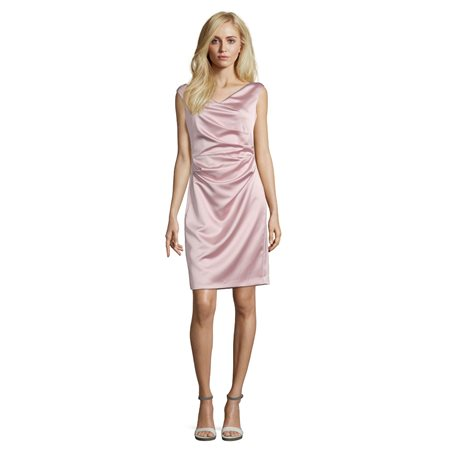 Vera Mont Satin Dress Pink  - Click to view a larger image