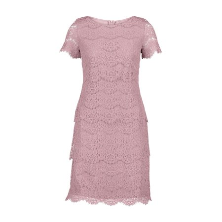 Vera Mont Short Sleeve Lace Dress Pink  - Click to view a larger image