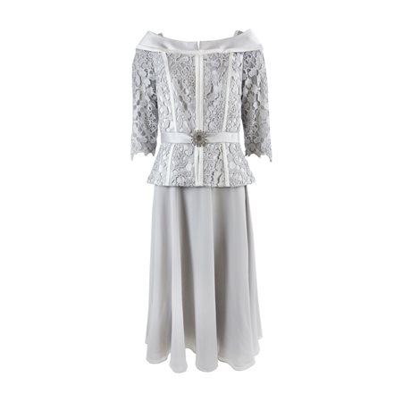 Ronald Joyce 991437b Dress Silver  - Click to view a larger image