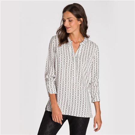 Olsen Chain Print Blouse Off White  - Click to view a larger image