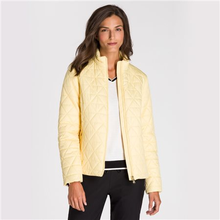 Olsen Quilted Jacket Lemon  - Click to view a larger image