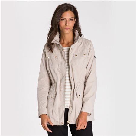 Olsen Windbreaker With Two Way Zip Beige  - Click to view a larger image