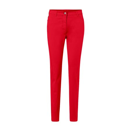 Olsen Mona Slim 5 Pocket Jeans Red  - Click to view a larger image