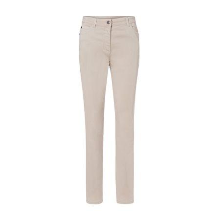 Olsen Mona Slim 5 Pocket Jeans Beige  - Click to view a larger image