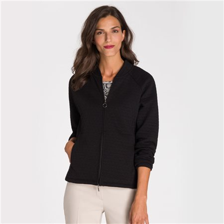 Olsen Zipped Jacket Black  - Click to view a larger image