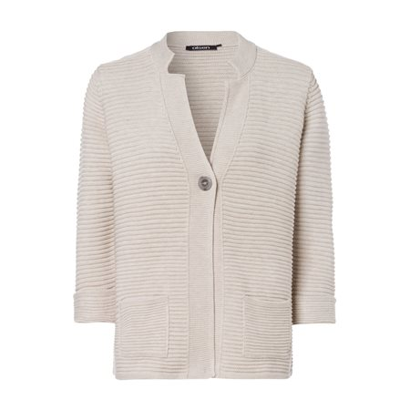 Olsen One Button Cardigan Beige  - Click to view a larger image