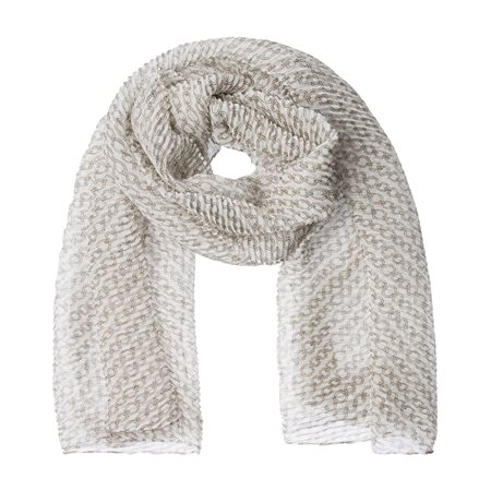 Olsen Chain Print Scarf Off White  - Click to view a larger image