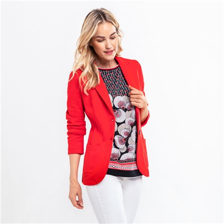 Olsen Jersey Jacket Red  - Click to view a larger image
