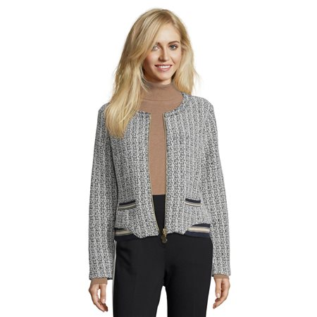 Betty Barclay Sporty Tweed Jacket Blue  - Click to view a larger image