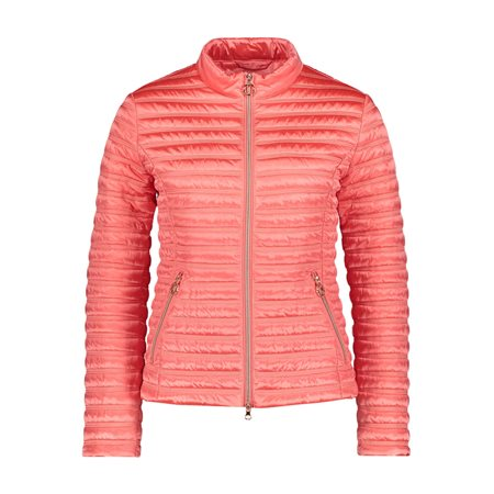 Betty Barclay Quilted Down Jacket Coral  - Click to view a larger image