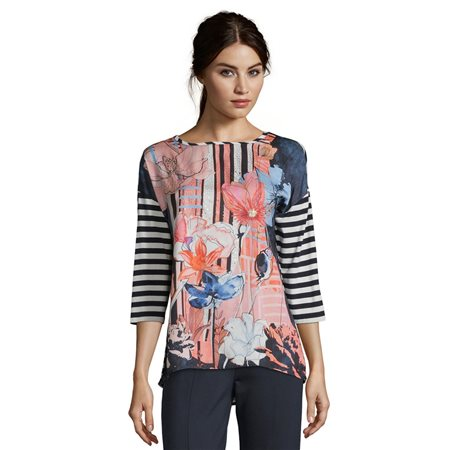 Betty Barclay Embellished Top Blue  - Click to view a larger image