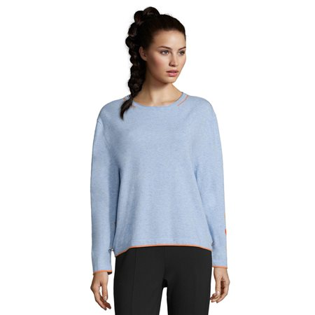Betty Barclay Button Trim Sweater Blue  - Click to view a larger image