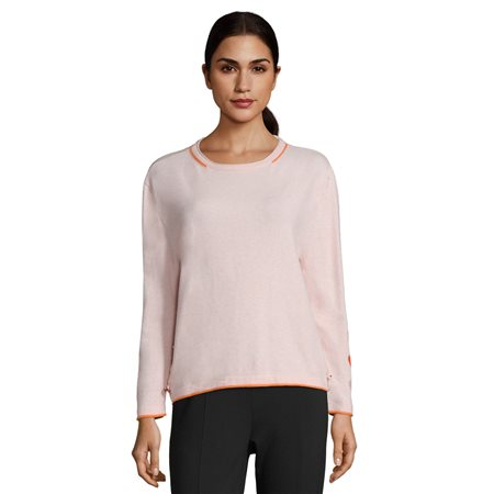 Betty Barclay Button Trim Sweater Peach  - Click to view a larger image