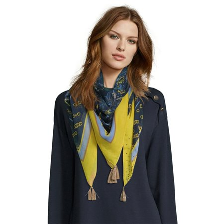 Betty Barclay Chain Print Scarf Blue  - Click to view a larger image