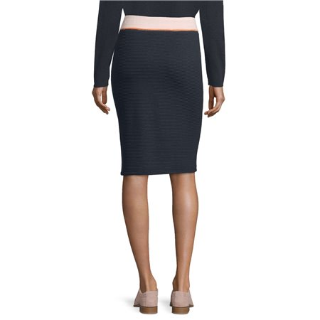 Betty Barclay Ribbed Jersey Skirt Blue  - Click to view a larger image