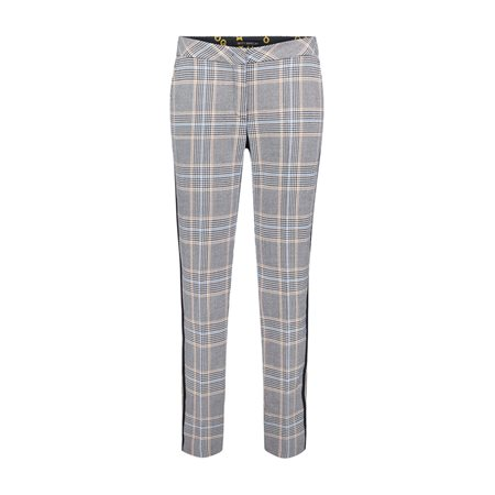 Betty Barclay 7/8 Check Trouser Blue  - Click to view a larger image