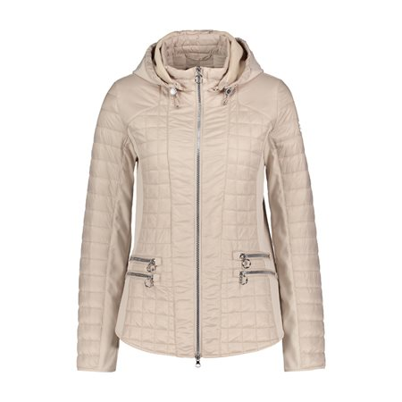 Betty Barclay Padded Jacket With Hood Beige  - Click to view a larger image