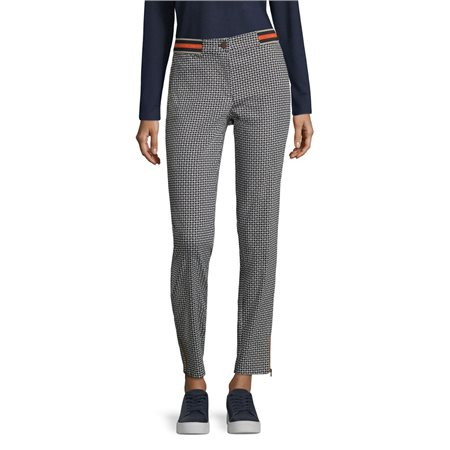 Betty Barclay Geometric Print Trousers Navy  - Click to view a larger image