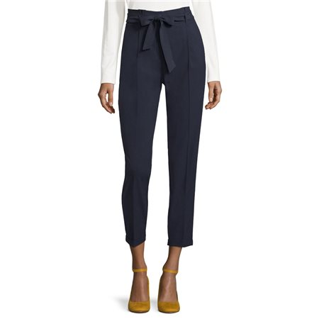 Betty Barclay Tie Belt Trousers Navy  - Click to view a larger image