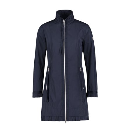 Betty Barclay Ruffle Hem Coat Navy  - Click to view a larger image