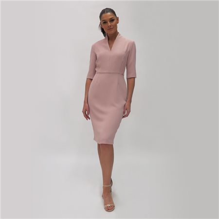 Fee G Crepe Pencil Dress Blush  - Click to view a larger image