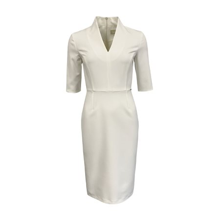 Fee G Crepe Pencil Dress Cream  - Click to view a larger image