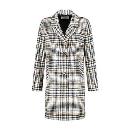 Gerry Weber Check Coat Black  - Click to view a larger image