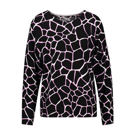 Gerry Weber Animal Print Jumper Pink  - Click to view a larger image