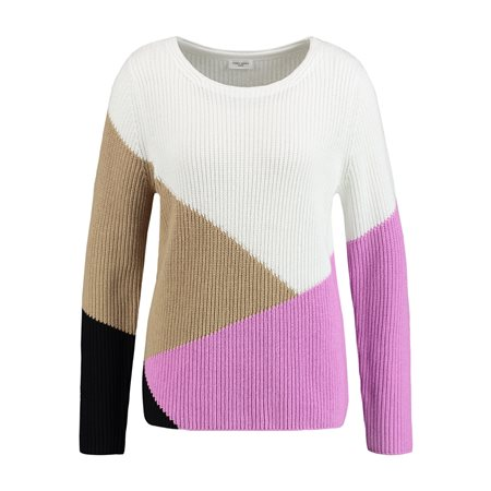 Gerry Weber Colour Block Jumper Pink  - Click to view a larger image