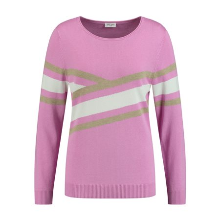 Gerry Weber Bold Stripe Jumper Pink  - Click to view a larger image