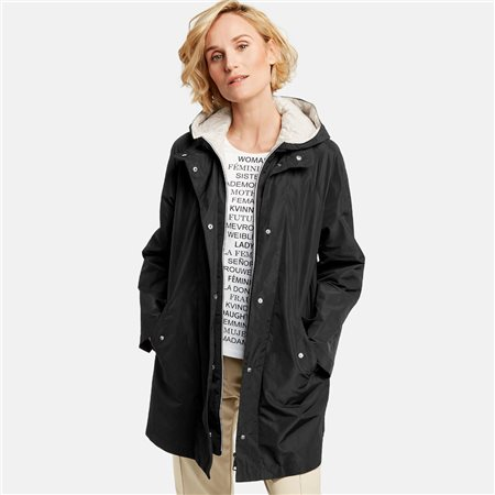 Gerry Weber Water Resistant Coat Black  - Click to view a larger image