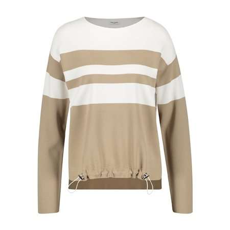 Gerry Weber Stripe Jumper Beige  - Click to view a larger image