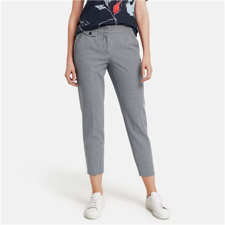 Gerry Weber Gingham Trousers Blue  - Click to view a larger image