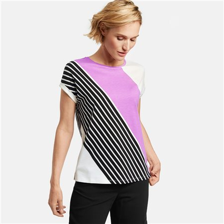 Gerry Weber Diagonal Panel Top Off White  - Click to view a larger image