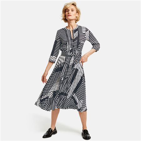 Gerry Weber Graphic Print Dress White  - Click to view a larger image